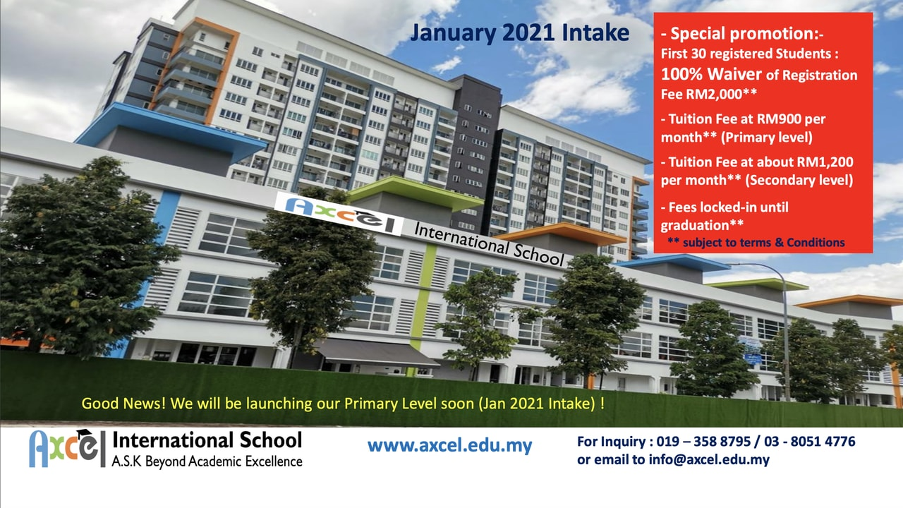 Axcel international school home